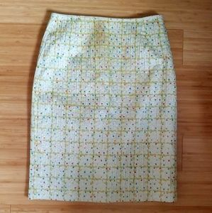 Cynthia Steffe chartreuse pencil skirt